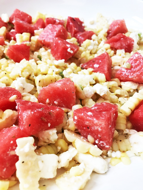 Lime & Jalapeno Corn Salad with Watermelon