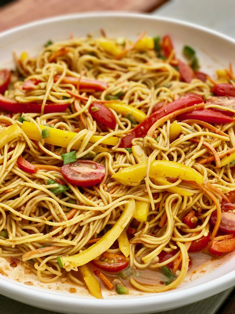 Thai Noodle Salad with Almond Butter